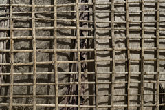Bamboo Canvas Wall. Siem Reap, Cambodia Stock Images