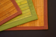 Bamboo carpets. Three carpets made of a bamboo Royalty Free Stock Image