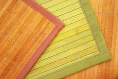 Bamboo carpets. Three carpets made of a bamboo Stock Images