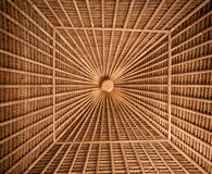 Bamboo ceiling Stock Images