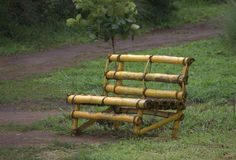 Bamboo chair in the garden Royalty Free Stock Image