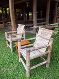 Bamboo chairs Royalty Free Stock Images