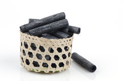 Bamboo Charcoal. Bamboo Charcoal made ​​from natural raw materials Stock Photos