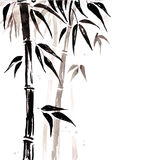 Bamboo in Chinese style. Royalty Free Stock Photo