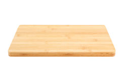 Bamboo chopping board isolated Royalty Free Stock Photos