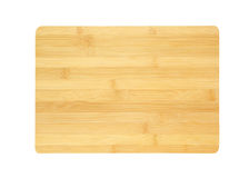 Bamboo chopping board isolated Royalty Free Stock Images