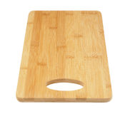 Bamboo chopping board isolated Stock Photography