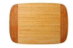 Bamboo chopping board isolated on white Stock Image