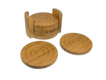 Bamboo coasters Royalty Free Stock Image