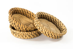 Bamboo coasters, natural wickerwork Royalty Free Stock Photo
