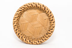 Bamboo coasters, natural wickerwork Stock Photo
