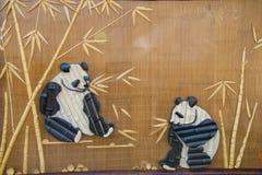 Bamboo collage, Panda Stock Image