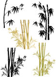 Bamboo collection on white Stock Photos