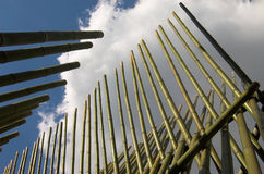 Bamboo construction. And sky Royalty Free Stock Images
