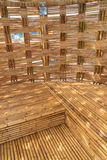 Bamboo Construction Interior View Royalty Free Stock Images