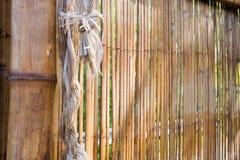 Bamboo construction stock image