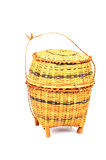 Bamboo container. 'Kratip' bamboo container for holding cooked glutinous rice Royalty Free Stock Photo