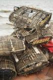 Bamboo crab cages at kep market cambodia Stock Photo