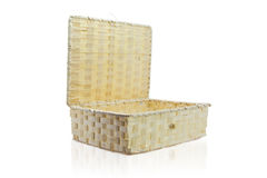 Bamboo craft basket Royalty Free Stock Image
