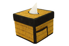 Bamboo craft tissue paper box Stock Photo