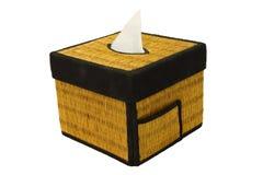 Bamboo craft tissue paper box Stock Photo