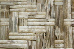Bamboo crafts woven texture Royalty Free Stock Photo