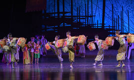 "Bamboo crate dance-Dance drama ""The Dream of Maritime Silk Road"" Stock Images"