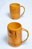 Bamboo cup. Bamboo can be used to make the bamboo cup Royalty Free Stock Image