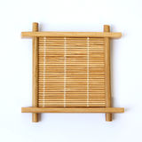 Bamboo cup mat Royalty Free Stock Photography