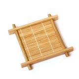 Bamboo cup mat Stock Image