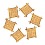 Bamboo cup mat Royalty Free Stock Image