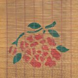Bamboo curtain background Stock Images