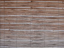 Bamboo curtain. Curtain made of bamboo material Royalty Free Stock Photo