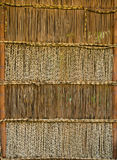 Bamboo curtain, texture background Royalty Free Stock Photos