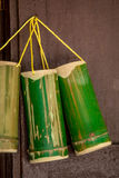 Bamboo. Cut the bamboo as a container for drinking water royalty free stock photography