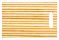 Bamboo cutting board Royalty Free Stock Images