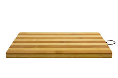 Bamboo cutting board. Striped. Isolated on white background Royalty Free Stock Image