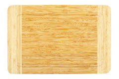 Bamboo cutting board. Isolated on white background Royalty Free Stock Photo