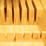 Bamboo Cutting Board Texture, Wooden Background stock image