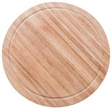 Bamboo cutting board on white Stock Image