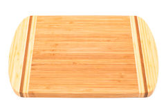 A bamboo cutting board Royalty Free Stock Image