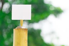 Bamboo cylinder on background bokeh tree using wallpaper or background Stock Photo