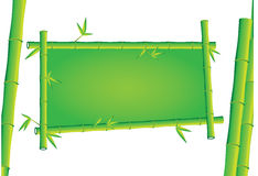 Bamboo 3d banner. Design illustration Royalty Free Stock Images