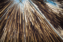 Bamboo decoration hanging from the ceiling Royalty Free Stock Image