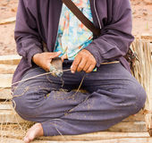 Bamboo  decoration for men. Royalty Free Stock Photos