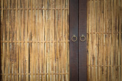 Bamboo door Royalty Free Stock Photography