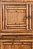 Bamboo doors - stock image Royalty Free Stock Photo