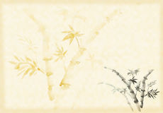 Bamboo drawn in traditional east style Royalty Free Stock Photos