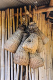 Bamboo eel trap norther Thai style Stock Photography