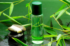 Bamboo essential oil Royalty Free Stock Photos